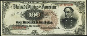 Picture of 1890 $100 Treasury Note