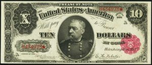 Picture of 1891 $10 Treasury Note