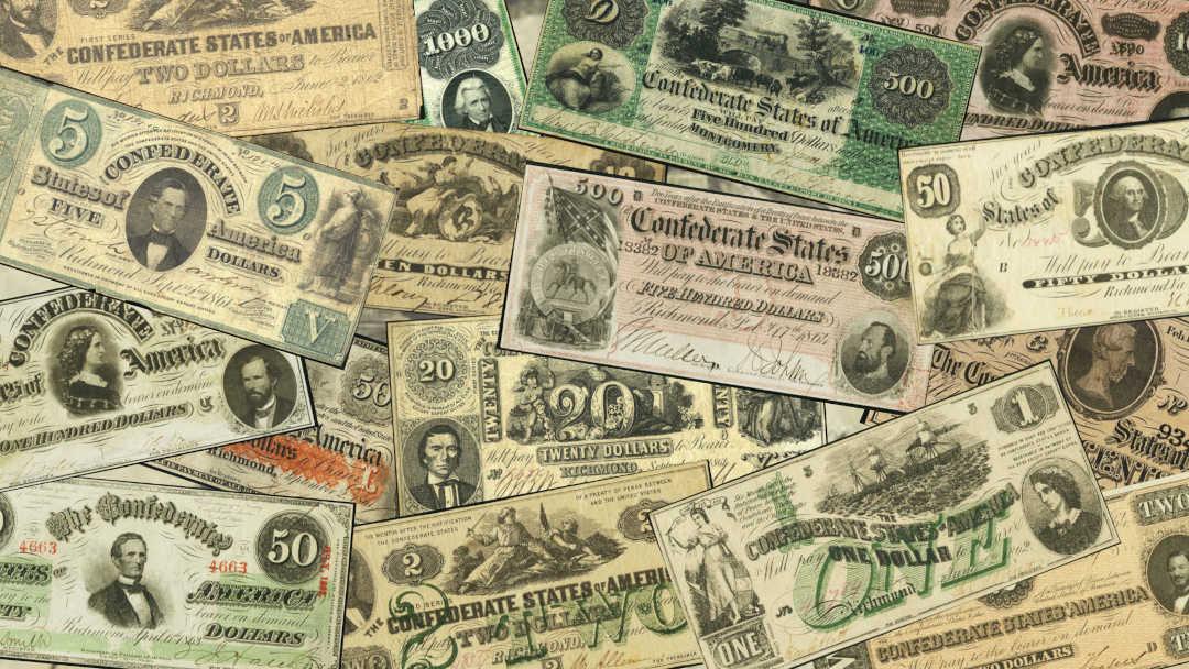 Confederate Paper Money Collage