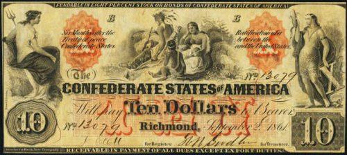 T-22 1861 Richmond $20 Confederate Paper Money