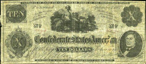 T-48 1862 Richmond $20 Confederate Paper Money