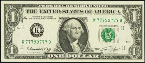radar serial number $1 bill